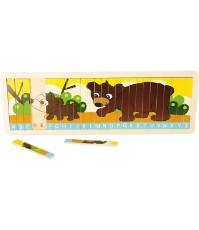 Imagine Puzzle cu ursuleti si litere -  invata alfabetul