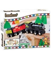 Imagine Trenulet din lemn cu sine