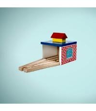 Imagine Depou trenulet din lemn cu sine