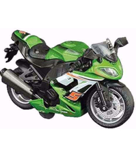 Picture of Macheta Motocicleta verde