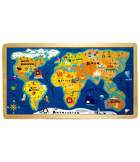 Imagine Puzzle din lemn Harta Lumii