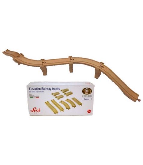 Imagine Prelungire sine pentru trenuletul din lemn