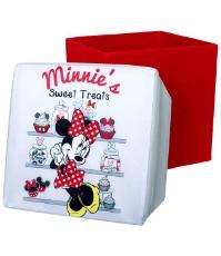Imagine Scaun taburet Minnie cu spatiu de depozitare