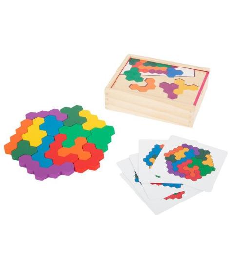 Imagine Puzzle din lemn- redarea modelului - hexagon